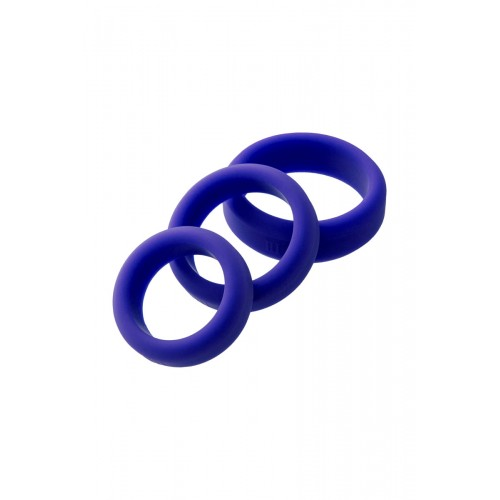 Комплект 3 бр. силиконови пенис пръстени A-Toys [1]