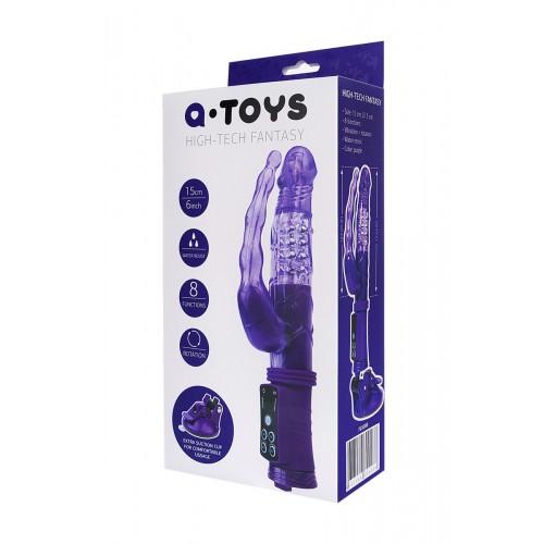 Анално-вагинален вибратор с вакумна основа и въртящ се край A-Toys [7]