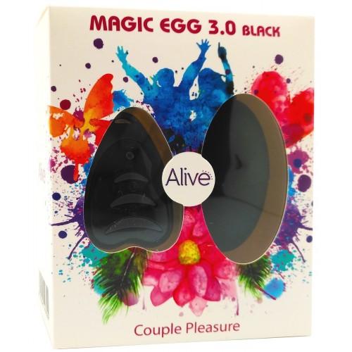 Вибро яйце с безжично дистанционно Magic Egg черно [2]