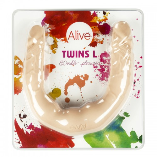 Голямо реалистично двойно дилдо от медицински силикон Twins L [3]