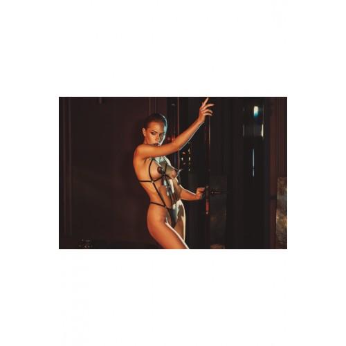 Сексапилно разкриващо боди Anais Apparel Belleza черно [2]