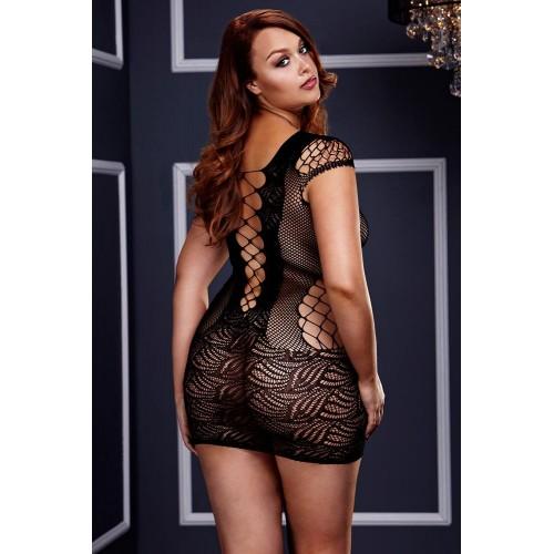 Съблазнителна рокля Baci 3126 Queen Size чернa [1]