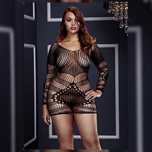 Сексапилна мини рокля Baci 3129 Queen Size чернa [2]