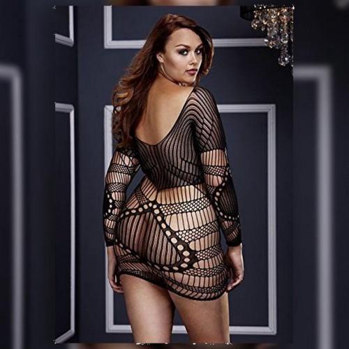 Сексапилна мини рокля Baci 3129 Queen Size чернa [3]