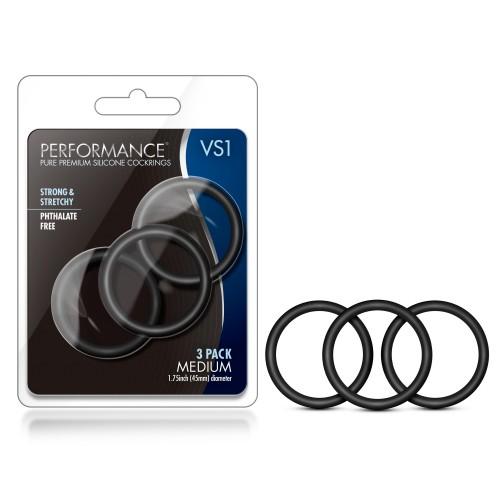 3 бр. пенис пръстени от силикон Performance VS1 [6]