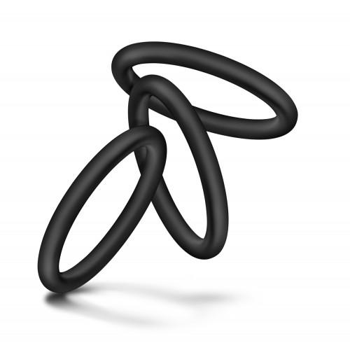3 бр. пенис пръстени от силикон Performance VS1 [2]
