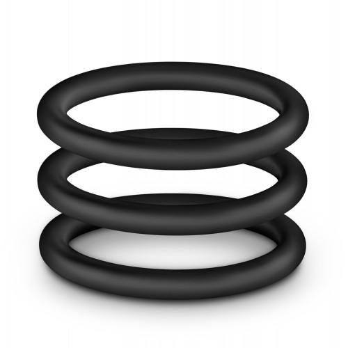 3 бр. пенис пръстени от силикон Performance VS1 [3]
