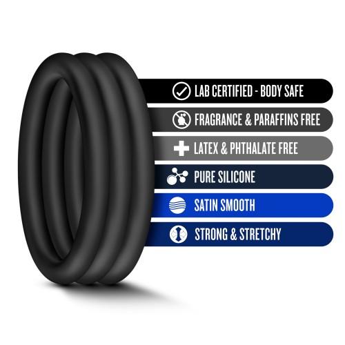 3 бр. пенис пръстени от силикон Performance VS1 [5]