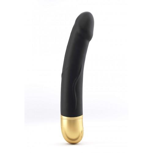 Мощен презаредим G-spot вибратор от силикон Real Vibration M черен
