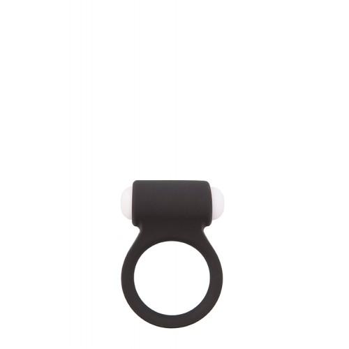 Вибриращ пенис пръстен от силикон Lit-Up черен