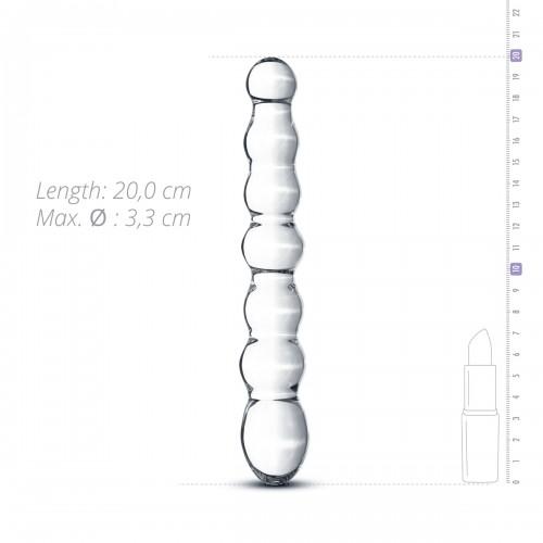 Оребрен стимулатор от стъкло Gildo 19 [3]