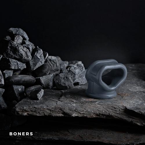 Луксозен двоен пенис пристегач Boners Strechy Cocksling [6]