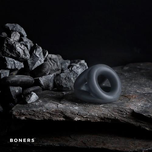 Луксозен троен пенис пръстен от течен силикон Boners Slings [5]