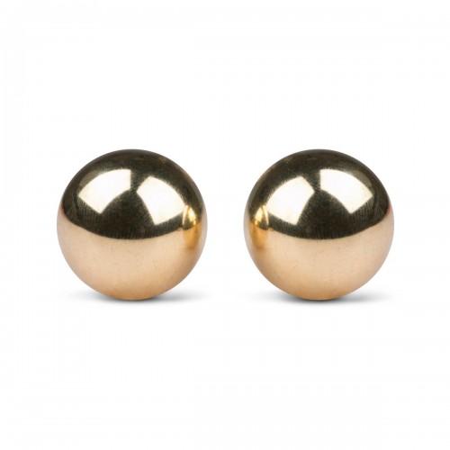 Метални вагинални топчета от неръждаема стомана в златисто Ben Wa 2.2 см.