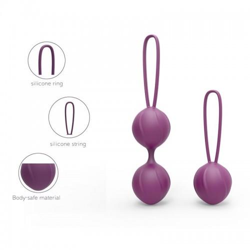 Комплект вагинални топчета от силикон Kelly виолетови [2]