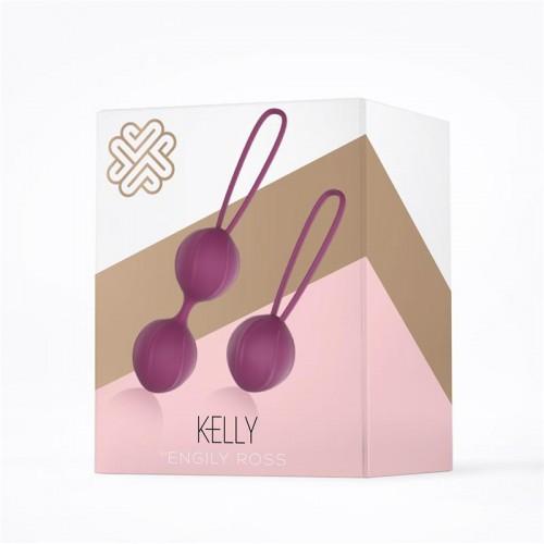 Комплект вагинални топчета от силикон Kelly виолетови [3]