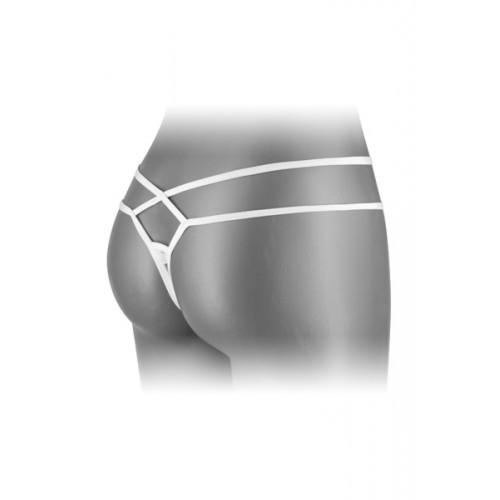 Дантелени прашки с изрязано дъно Mylene бели [1]