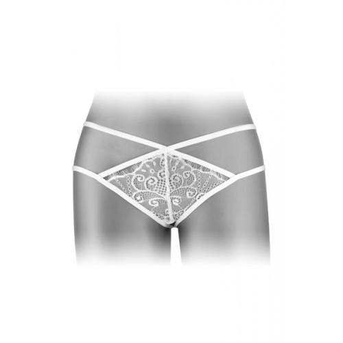 Дантелени прашки с изрязано дъно Mylene бели