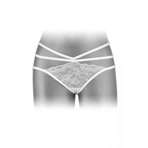 Разкриващи бикини с изрязано дъно Nadia бели