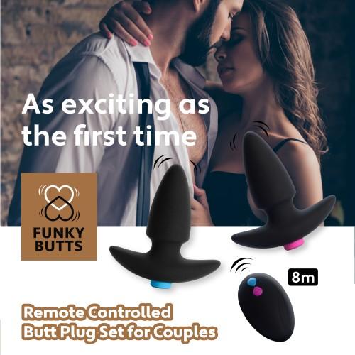 Вибриращи анални разширители за двойки с безжично дистанционно Funky Butts [3]