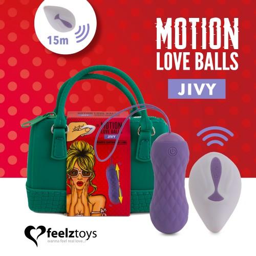 Вибриращи вагинални топчета с движение нагоре-нодолу Jivy