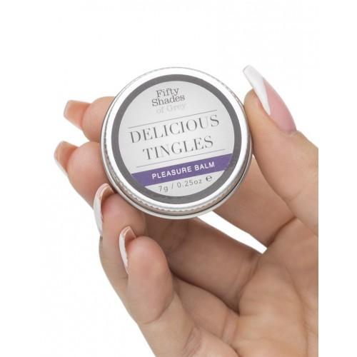 Комплект булет вибратор и възбуждащ балсам Delicious Tingles от 50 Shades Of Grey [4]
