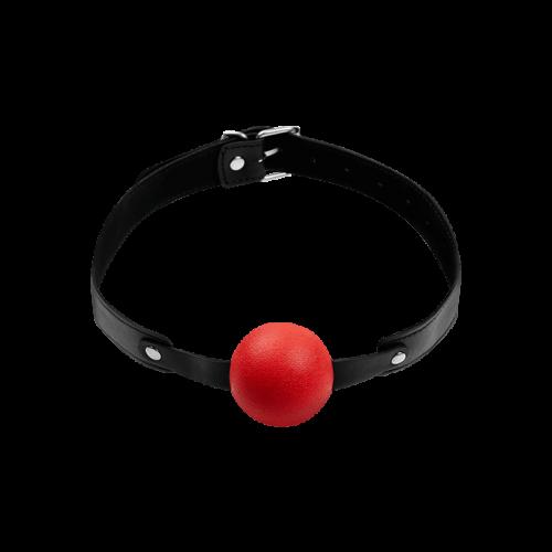 Луксозна топка за уста от силикон GP червена