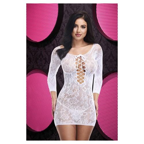 Нежна рокля Lapdance бяла