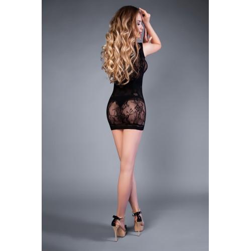 Къса сексапилна рокля с едно рамо Lefrivole черна [1]