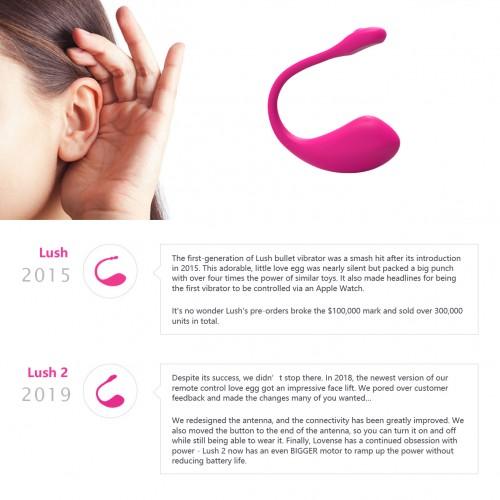 Презаредим Bluetooth вибратор Lush 2 розов [4]