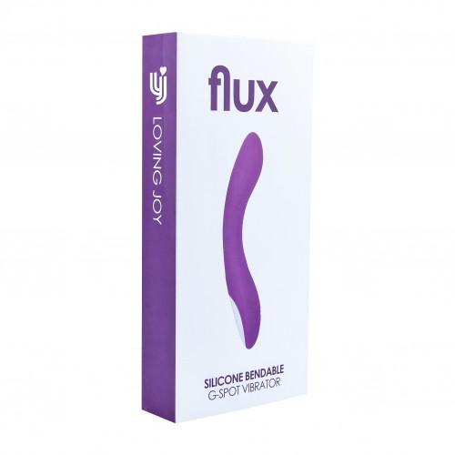 Гъвкав презаредим G-Spot вибратор от силикон Flux лилав [3]