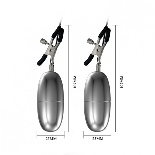 Вибриращи щипки за зърна Flirt [3]