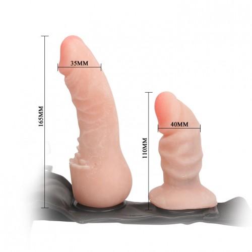 Двоен страпон колан Ultra Harness Flesh [5]