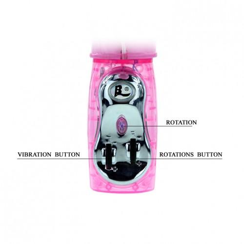 Рабит вибратор с въртящ се край и перли Pearl Accelerator  [7]