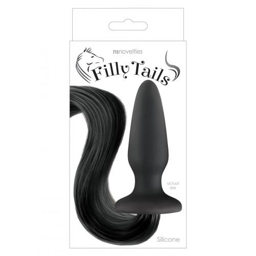Анален разширител с конска опашка Filly Tail Black [1]