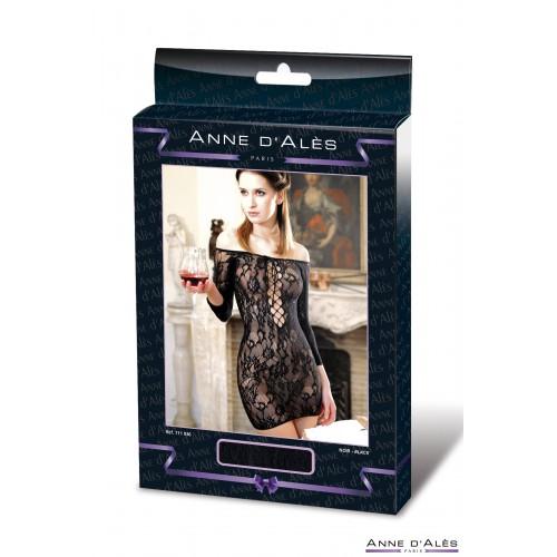 Съблазнителна мрежеста рокля Anne D'Ales черна [2]
