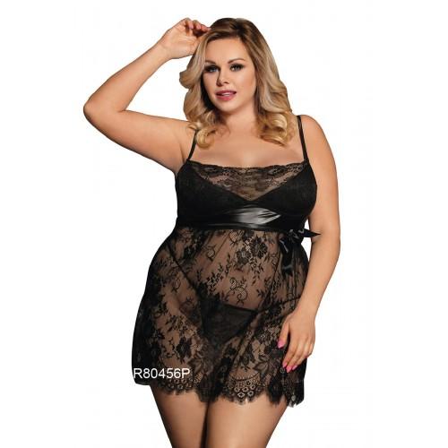 Дантелена рокля Noir XL