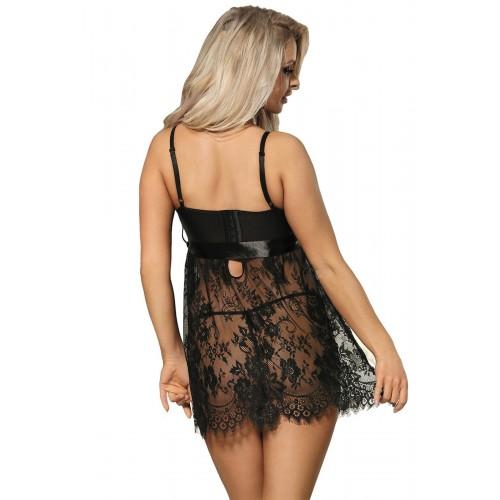 Дантелена рокля Noir XL [3]