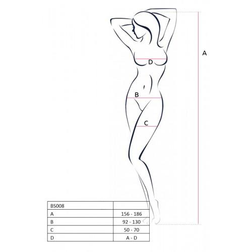 Секси боди - жартиер Passion 008 бяло [1]