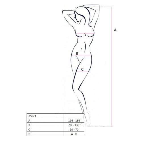 Еротично бельо с изрязано дъно Passion BS024 бяло [1]