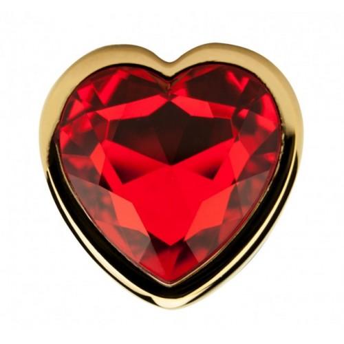 Метален анален разширител в златисто с кристал-сърце Precious  [3]