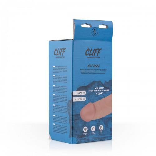 Реалистично дилдо с вакуумна основа и тестиси Cliff [6]