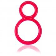 Двоен пенис пръстен Ofinity червен