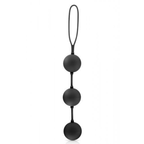 Секс топчета от силикон Triplex черни