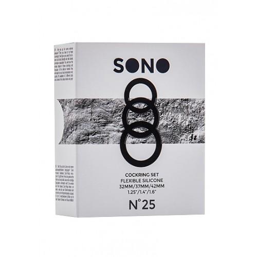 Комплект от 3 бр. пенис пръстени от силикон Sono [2]