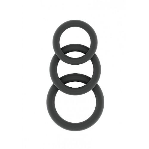 Комплект от 3 бр. пенис пръстени от силикон Sono