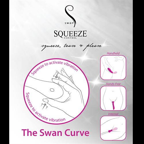 Луксозен мощен презаредим вибратор от силикон The Swan Curve [7]