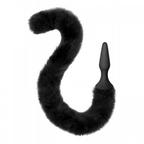 Анален разширител от силикон с пухкава котешка опашка Sweet Caress
