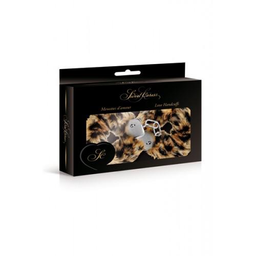 Луксозни метални белезници с пух Sweet Caress тигрови [1]