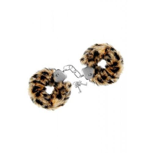 Луксозни метални белезници с пух Sweet Caress тигрови